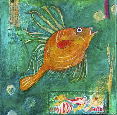 Mixed Media - Asian Fish by Bellesouth Studio
