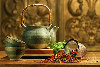 Asian Herb Tea Art Print by Sandra Cunningham