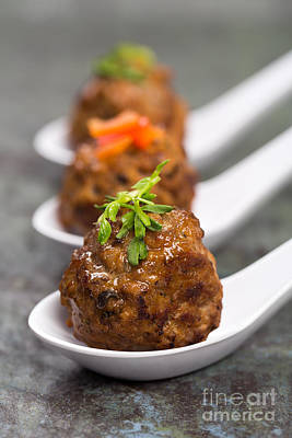 Ladle Photograph - Asian Meatballs by Jane Rix