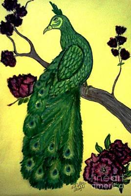 Pastel - Asian Peacock by Neil Stuart Coffey