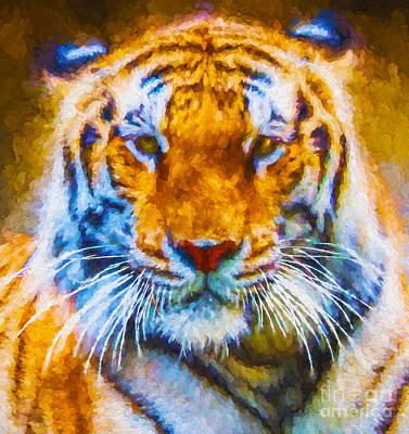 Asian Tiger Digital Art - Asian Tiger by Ken Frischkorn