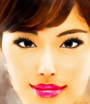 Asian Woman Art Print by Robert Matson