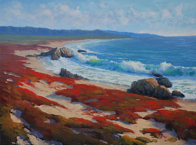 Pacific Grove Painting - Asilomar Beach by Armand Cabrera