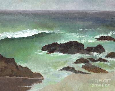Painting - Asilomar Beach Ca by Claire Gagnon