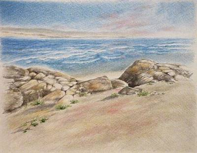 Asilomar Rocks Art Print by Renee Goularte