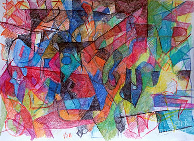 Creativity Drawing - Asking Another To Understand 1 by David Baruch Wolk