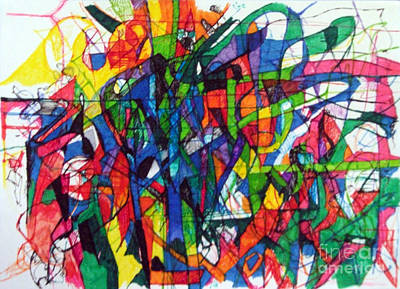 Creativity Drawing - Asking Another To Understand 2 by David Baruch Wolk