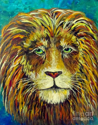 Painting - Aslan King Of Narnia by Lou Ann Bagnall