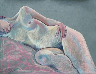 Asleep In The Moonlight  Art Print by Asha Carolyn Young