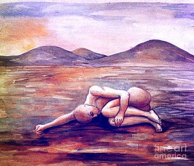 Painting - Asleep On The Plain  by Nancy Wait