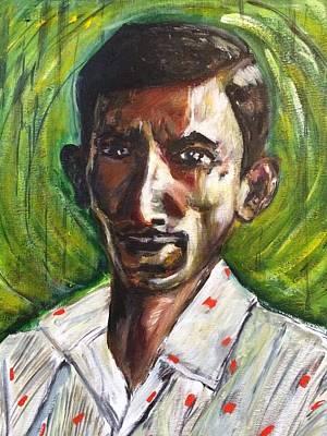 Character Portraits Painting - Asokan by Belinda Low