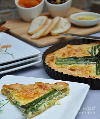 Photograph - Asparagu And Leeks Tart by Maureen Cavanaugh Berry