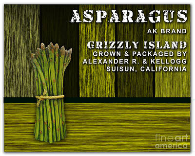 Asparagus Mixed Media - Asparagus Farm by Marvin Blaine