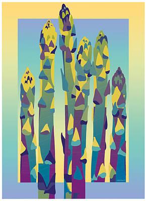 Asparagus Gradient Art Print