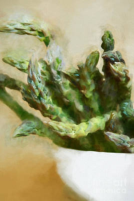 Interior Still Life Digital Art - Asparagus by HD Connelly