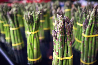 Food And Beverage Royalty-Free and Rights-Managed Images - Asparagus by Tanya Harrison