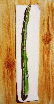 Asparagus Painting - Asparagus Tasty Botanical Study by Irina Sztukowski
