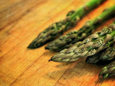 Asparagus Photograph - Asparagus Tips by Michelle Calkins