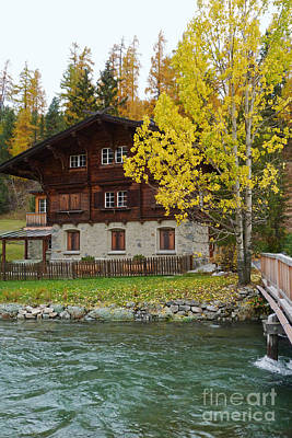 Photograph - Aspen Chalet - Switzerland by Phil Banks