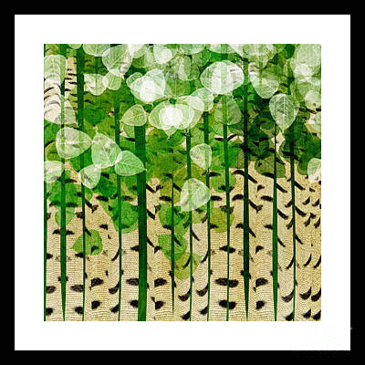 Aspen Colorado Abstract Square 2 Art Print by Andee Design