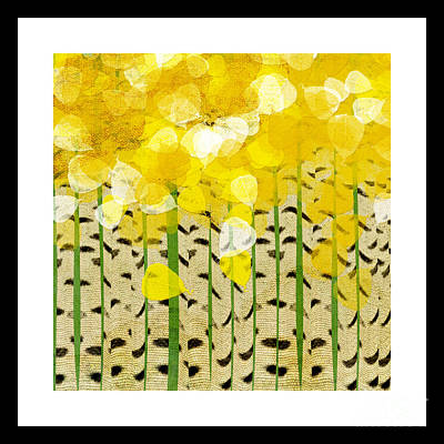 Mixed Media - Aspen Colorado Abstract Square by Andee Design