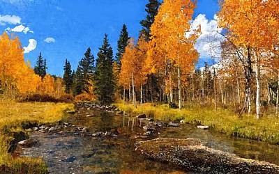 Aspen Country Art Print by John Samsen