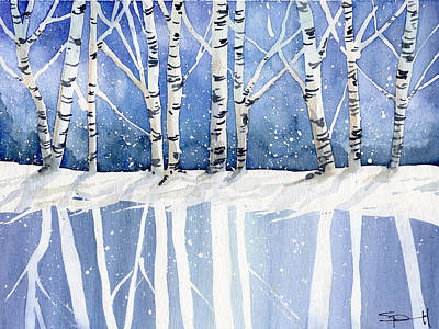 Painting - Aspen Freeze by Sean Parnell