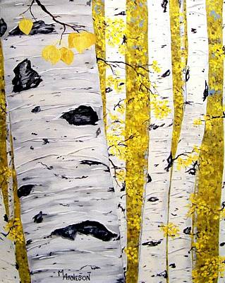 Painting - Aspen Gold by Mary Arneson