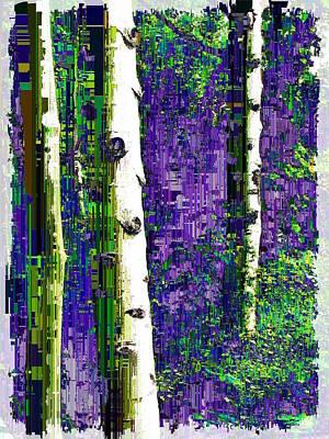 Digital Art - Aspen Grove 3 by Tim Allen