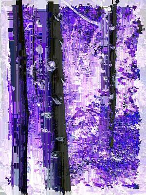 Digital Art - Aspen Grove 5 by Tim Allen