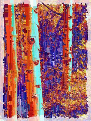 Digital Art - Aspen Grove 7 by Tim Allen