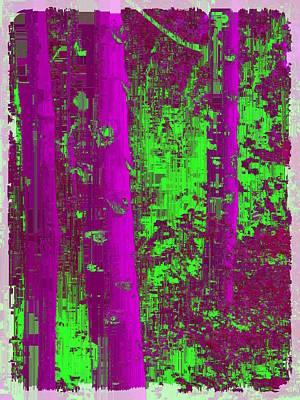 Digital Art - Aspen Grove 9 by Tim Allen