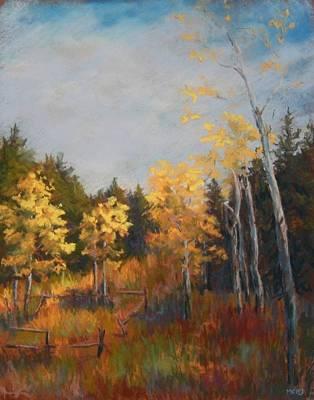 Pastel - Aspen Grove by Marlene Kingman
