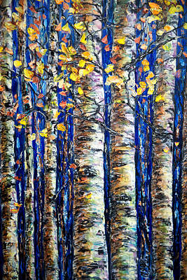Painting - Aspen Grove by OLena Art Brand