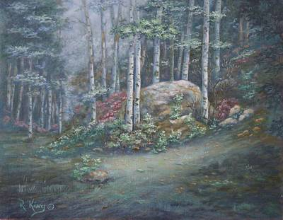 Art Print featuring the painting Aspen Grove by Roena King