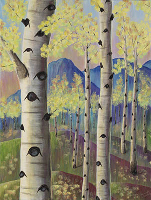 Aspen Trees Painting - Aspen Hills I by Elizabeth Golden