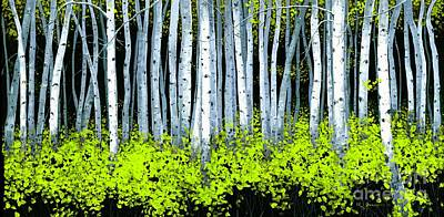Art Print featuring the painting Aspen II by Michael Swanson