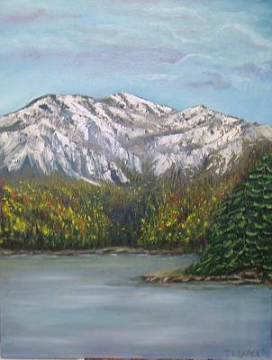 Art Print featuring the painting Aspen Lake by J L Zarek