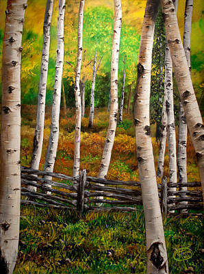 Art Print featuring the painting Aspen Meadow by Jessica Tookey