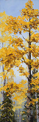 Painting - Aspen Quaking by Mary Giacomini