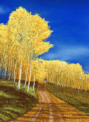 Pastel - Aspen Road by George Burr