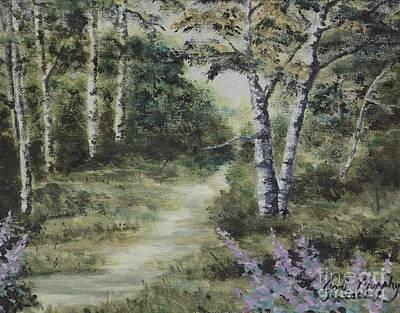 Oil Painting - Aspen Serenity by Jodi Murphy
