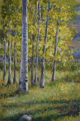Painting - Aspen Shadows by Billie Colson
