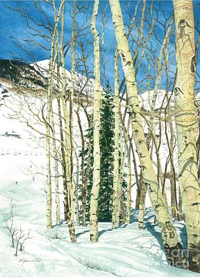 Water Ski Painting - Aspen Shelter by Barbara Jewell