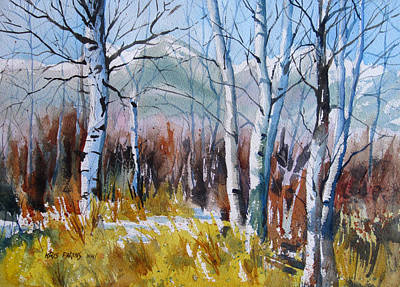 Teton Painting - Aspen Thicket by Kris Parins