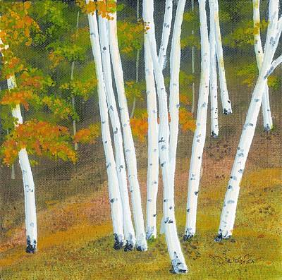 Deserted Painting - Aspen Tree Grove by David Wolfer