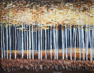 Painting - Aspen Trees by Richard Fritz