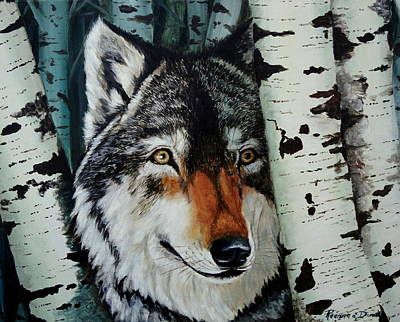 Wolf Pup Painting - Aspen Wolf by Ruanna Sion Shadd a'Dann'l Yoder