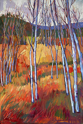 Aspens At Zion Print by Erin Hanson