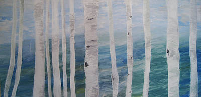 Aspens In Winter Art Print by Jessie Nolan